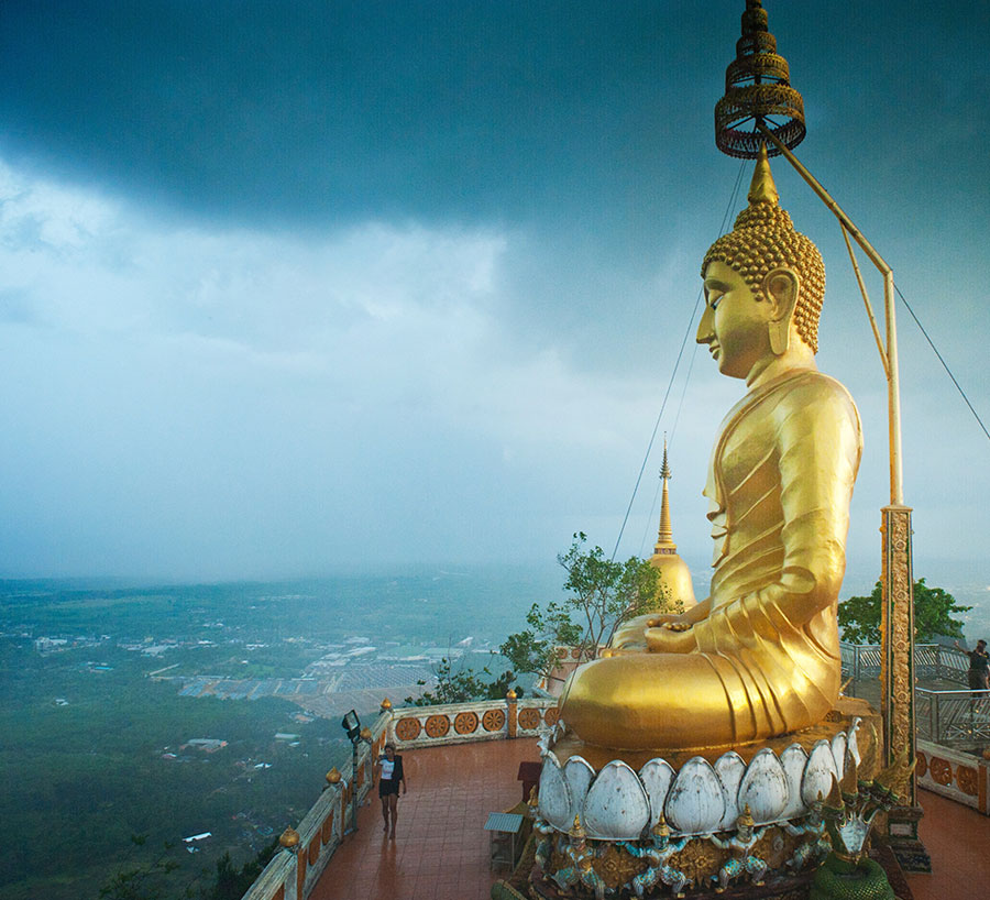 Sightseeing: krabi town, aonang, temple with private hotel van and driver